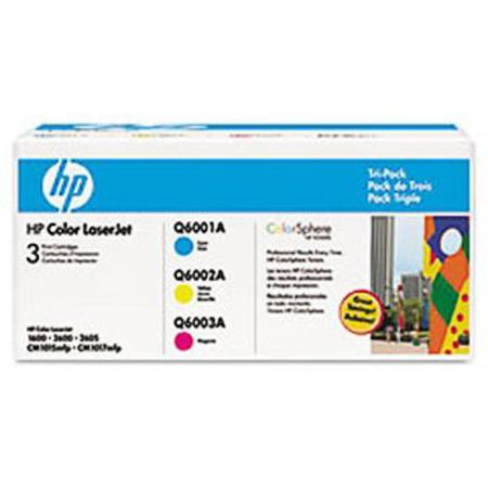 HP 124A (CE257A) Original Tri-Color Laser Toner Multi Color Combo Pack (Cyan/Magenta/Yellow)