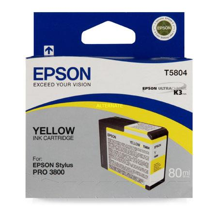 Epson T5804 (T580400) Original Yellow Ink Cartridge