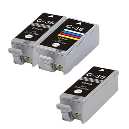 PGI-35/CLI-36 Full Set + 1 EXTRA Black Remanufactured Ink