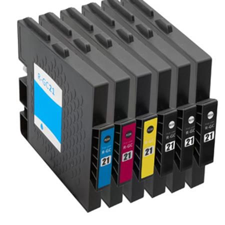Compatible Multipack Ricoh 405532/35 Full Set + 2 EXTRA Black Inkjet Cartridges