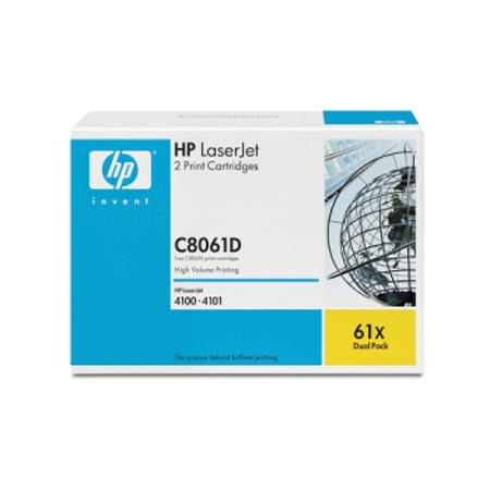 HP 61X (C8061D) Original Black High Capacity Laser Toner Cartridge (2Pcs)