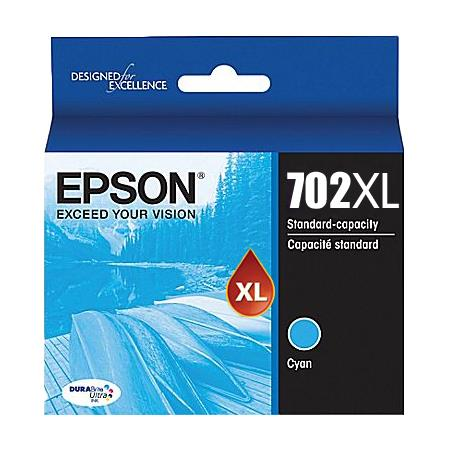 Epson 702XL (T702XL220) Cyan Original High Capacity Ink Cartridge