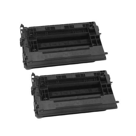 Clickinks 37X Black Remanufactured High Capacity Toner Cartridges Twin Pack
