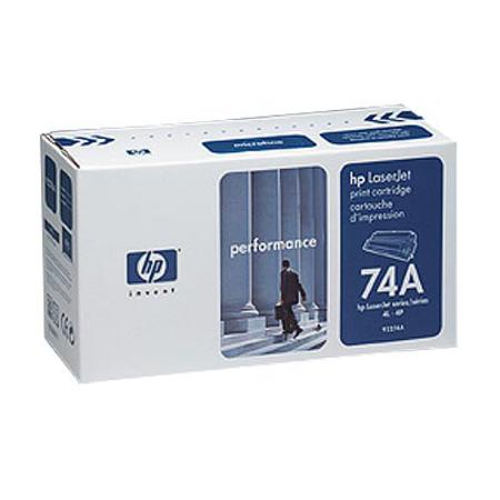 HP LaserJet 74A (92274A) Black Original Standard Capacity Print Cartridge with Microfine Toner