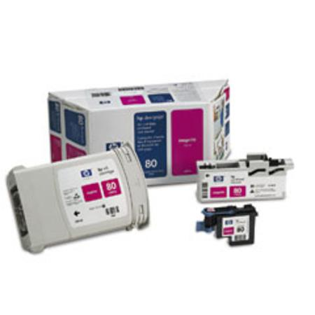 HP 80 Original Magenta Value Pack (Ink Cartridge  Printhead  Printhead Cleaner) (C4892A)