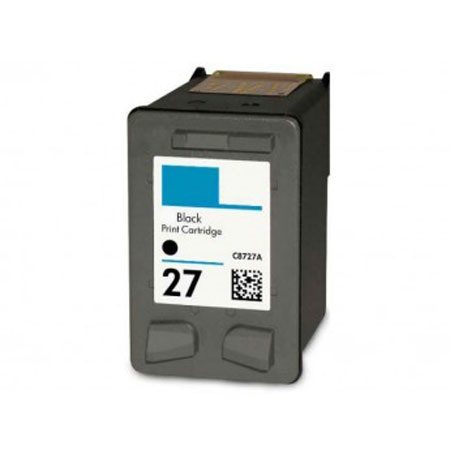 HP 27 Black Remanufactured Printer Ink Cartridge (C8727AN)