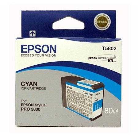 Epson T5802 (T580200) Original Cyan Ink Cartridge