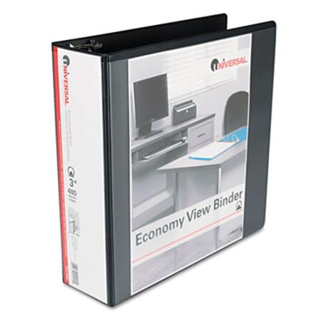 Round Ring Economy Vinyl View Binder  3Inch Capacity  Black