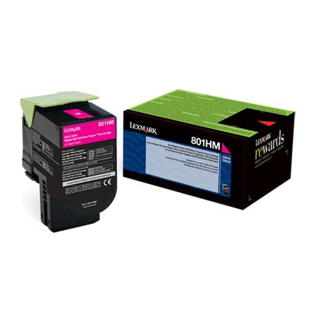 Lexmark 80C1HM0 Magenta Original High Capacity Return Program Toner Cartridge
