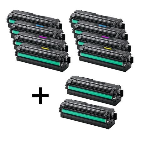 CLT-K506S 2 Full Sets + 2 EXTRA Black Remanufactured Toner Cartridges