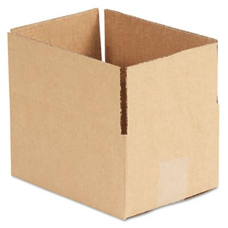 Corrugated Kraft Fixed-Depth Shipping Carton 6w x 8l x 4h Brown 25/Bundle