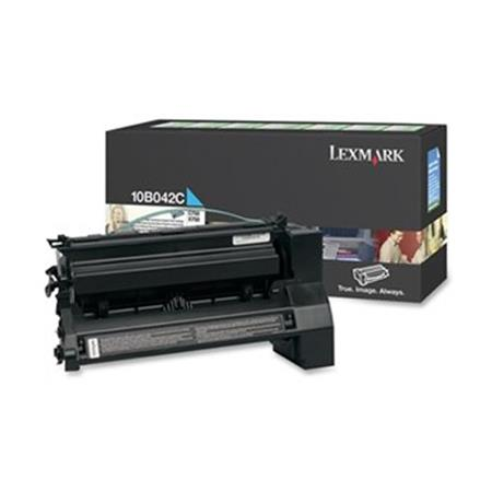 Lexmark 10B042C Original Cyan Prebate High Yield Laser Toner Cartridge