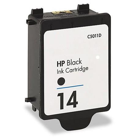 HP 14 Black Remanufactured Printer Ink Cartridge (C5011DN)