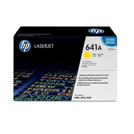 HP Color LaserJet C9722A Yellow Original Print Cartridge with Smart Printing Technology
