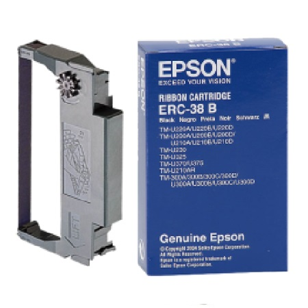 Epson ERC38B Black Original Ribbon Cartridge
