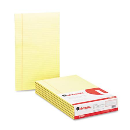 Glue Top Writing Pads Wide Rule Legal Canary 50-Sheet Pads/Pack Dozen