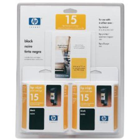 HP 15 Twinpack Black Original Inkjet Print Cartridge (C6653FN)