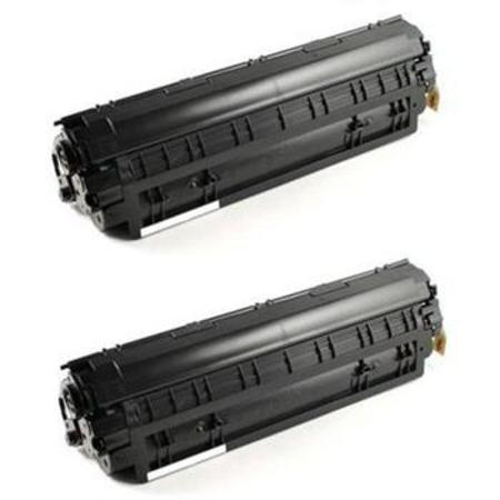 128 Black Remanufactured Toner Cartridges Twin Pack
