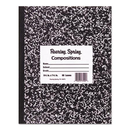 Marble Cover Composition Book  Wide Rule  9-3/4 x 7-1/2  60 Pages