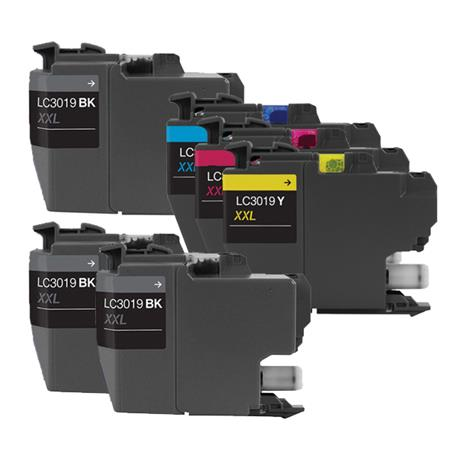 LC3019BK/C/M/Y Full Set +  2 EXTRA Black Super High Capacity Compatible Inks
