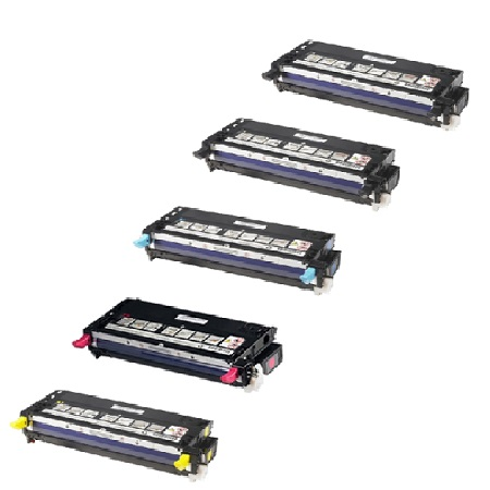 Clickinks 106R01455 Full Set + 1 EXTRA Black Remanufactured Toner Cartridge