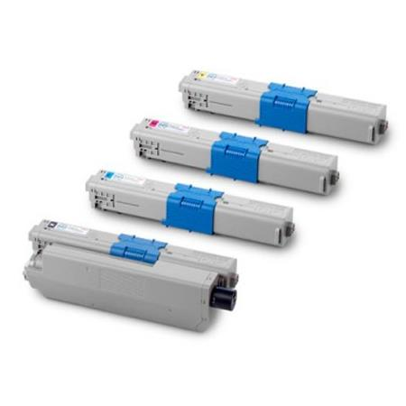 Clickinks 44469801/44469701/02/03 Full Set Remanufactured Toner Cartridges