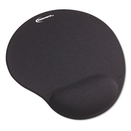 Innovera Mouse Pad with Gel Wrist Pad Nonskid Base 10-3/8 x 8-7/8 Black