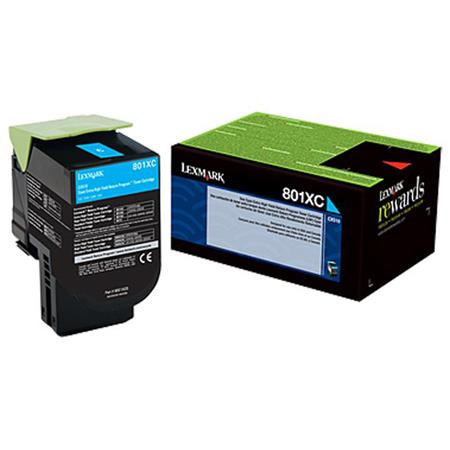 Lexmark 80C1XC0 Cyan Original Extra High Capacity Return Program Toner Cartridge