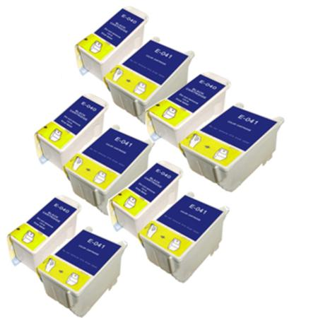Compatible Multipack Epson T040/T041 5 Full Sets Ink Cartridges