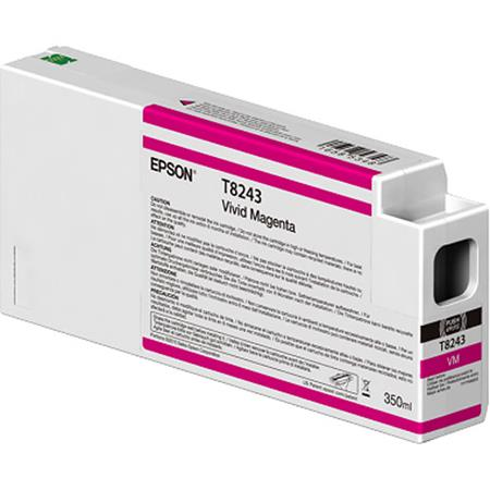 Epson T8243 (T824300) Vivid Magenta Original UltraChrome HDX Ink Cartridge (350 ml)