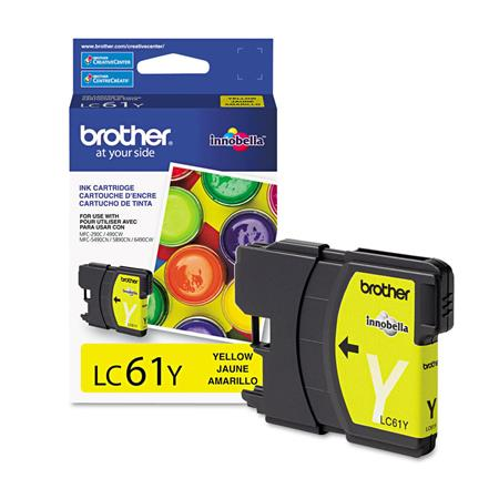 Brother LC61Y Original Yellow Standard Capacity Ink Cartridge