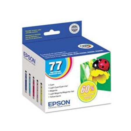 Epson T0779 (T077920) Original Multi-Color High Capacity Ink Cartridge (C/Light/C/M/Light/M/Y)