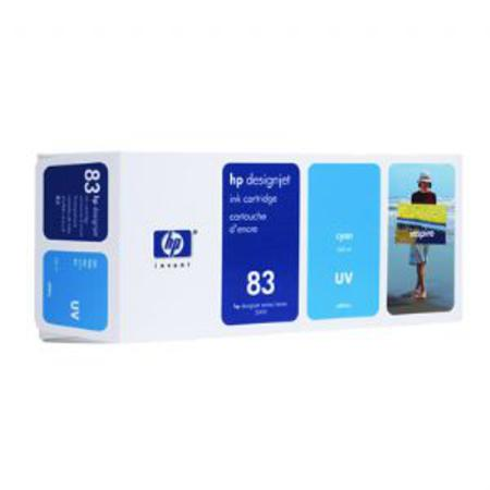 HP 83 Original Cyan UV Ink Cartridge (C4941A)