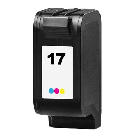 HP 17 TriColor Remanufactured Printer Ink Cartridge (C6625AN)