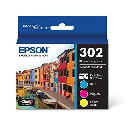 Epson 302 (T302520-S) Color Original Standard Capacity Ink Cartridges - 4 Pack