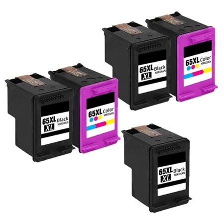 Clickinks 65XL 2 Full Sets + 1 EXTRA Black Remanufactured Inks