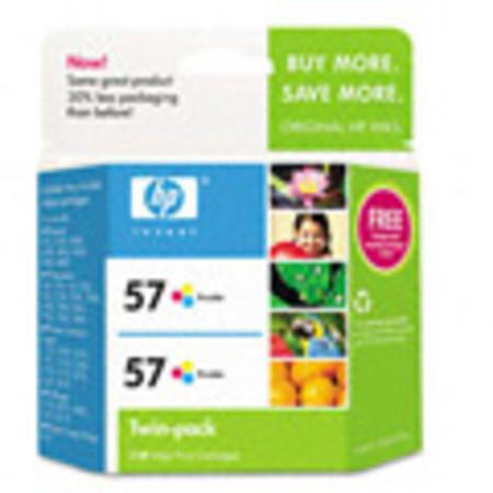 HP 57 Twinpack Tri-Color Original Cartridge (C9320FN)