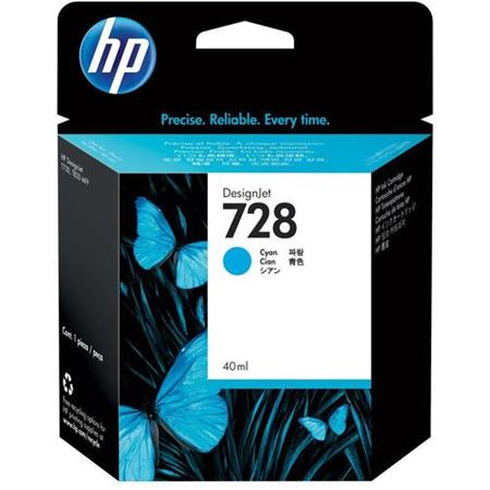 HP 728 (F9J63A) Cyan Original Standard Capacity Ink Cartridge
