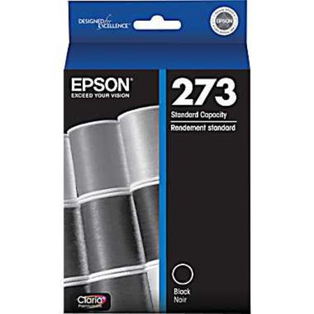 Epson 273 (T273020) Black Original Claria Premium Standard Capacity Ink Cartridge