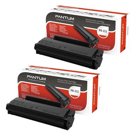 PB211 Black Original Toner Cartridges Twin Pack