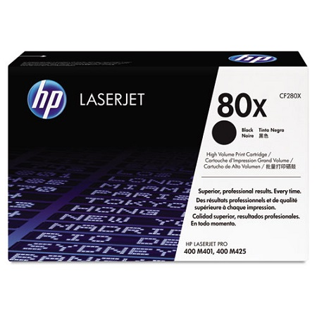 HP 80X (CF280X) Black Original High Capacity Toner Cartridge
