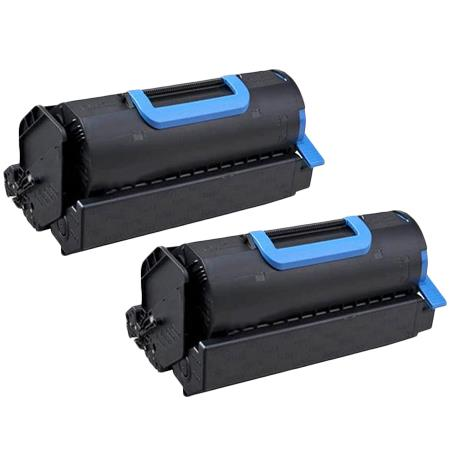 Clickinks 45488801 Black Remanufactured Toner Cartridge Twin Pack