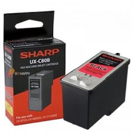 Sharp UXC80B Black Original Ink Cartridge