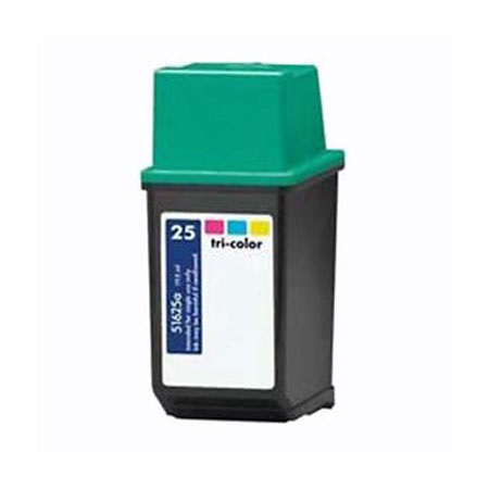 HP 25 TriColor Remanufactured Printer Ink Cartridge (51625A)