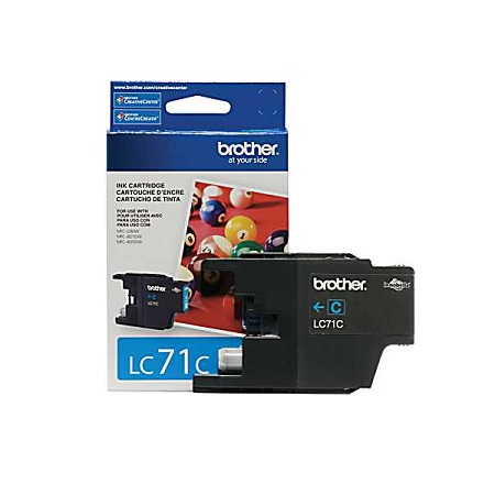 Brother LC71C Cyan Original Standard Yield Ink Cartridge