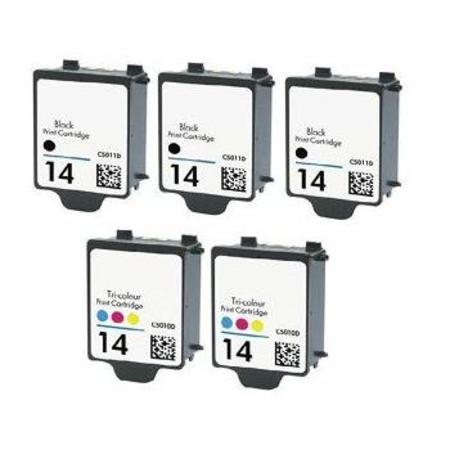 14BK/CL 2 Full set + 1 EXTRA Black Remanufactured Inks