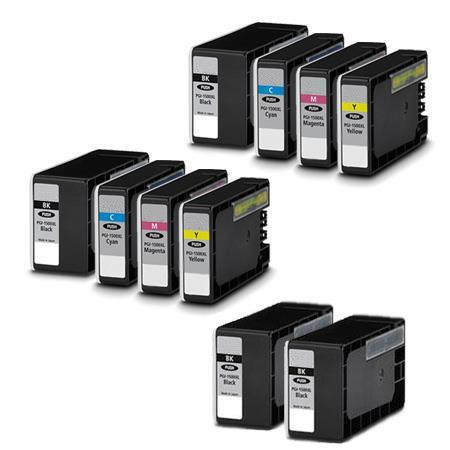 PGI-1200XL BK/C/M/Y 2 Full Sets + 3 EXTRA Black Compatible Inks