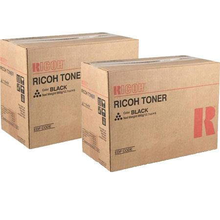 Ricoh 407319 Black Orginal Toner Cartridges Twin Pack