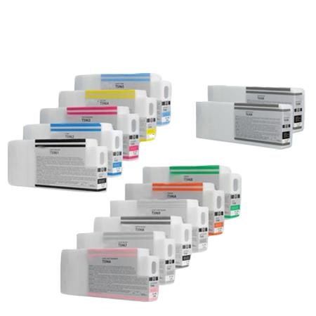 T6361/T636B Full Set + 2 EXTRA Black Remanufactured Inks