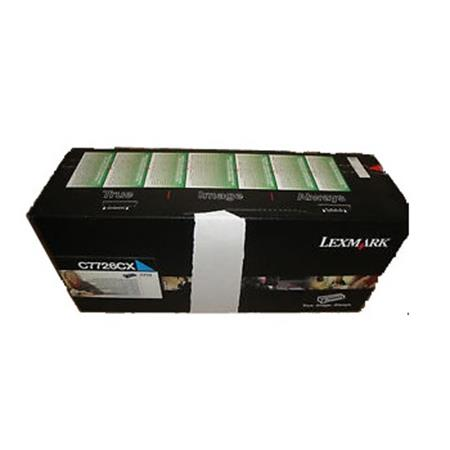 Lexmark C7726CX Original Cyan Extra High Yield Return Program  Laser Toner Cartridge